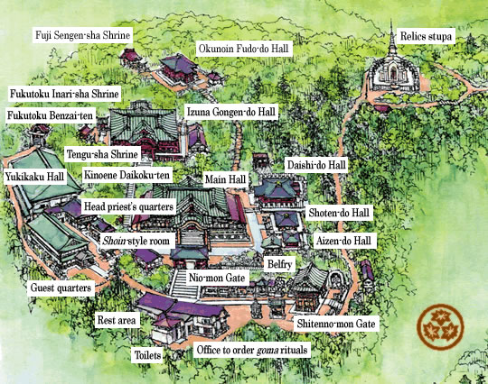 Map of Temple Precincts